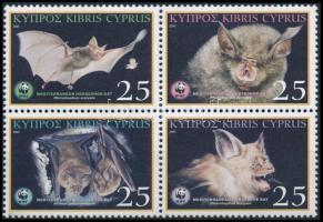 WWF Denevér sor 4-es tömbben, WWF Bat set in block of 4