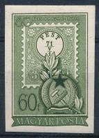 1951 Bélyegnap 60f vágott bélyeg