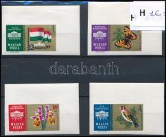 1961 Nemzetközi bélyegkiállítás ívsarki vágott sor (3.500)