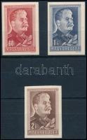 1949 Sztálin vágott sor (**3.000) (60f, 1Ft falcos / hinged)