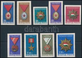 1966 A Magyar Népköztársaság polgári kitüntetései vágott sor (3.500)
