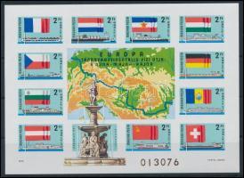 1977 Európa transzkontinentális vízi útja vágott blokk (25.000)