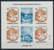 1973 Helsinki vágott blokk (25.000)