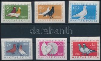 1957 Magyarországi galambfajták vágott sor (13.000) (törések / creases)
