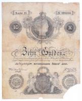1841. 10G Privilegirte Oesterreichische Natonal Bank korabeli hamisítvány T:III-,IV Austrian Empire 10 Gulden Privilegirte Oesterreichische Natonal Bank contemporary fake C:VG,G Adamo G72c