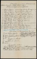 1891 Vaszary Kolos (1832-1915) bíboros életrajzához kézzel írt levél, melyben az 1846/47. évi keszthelyi gimnáziumi osztálytársai és tanárai vannak felsorolva, keszthelyi helytörténeti anyag