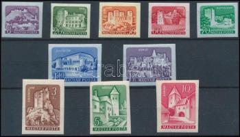 1960 Várak I. vágott sor (30.000) (10Ft rozsdás / stain)
