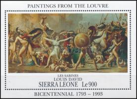 Paintings Louvre Museum block, Festmények Louvre múzeum blokk