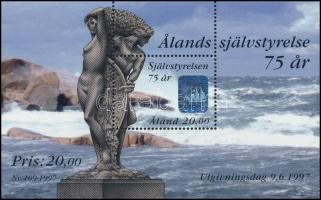 75th anniversary of self-government of Aland holographic block, 75 éves az älandi önkormányzat hologramos blokk