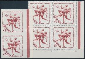 1964 Események Atlétika vágott ívszéli pár + fogazott négyestömb (2.000)