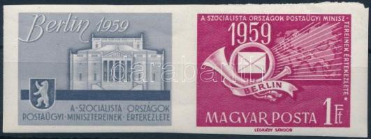 1959 A szocialista országok postaügyi minisztereinek értekezlete vágott szelvényes bélyeg (4.000)