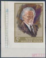 1968 Kodály ívsarki vágott bélyeg (1.500)