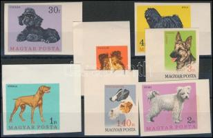 1967 Magyarországi kutyafajták vágott sor (6.000) (1Ft gumihiba, 2Ft foltos)