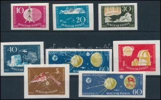 1959 Nemzetközi geofizikai év vágott sor + Holdrakéta vágott bélyeg (6.000) (törések / creases)