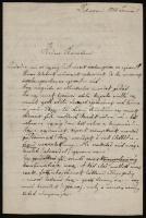 1883 Sebestyén Gyula (1864-1946) folklorista, irodalomtörténész saját kézzel írt levele egy ismeretlen barátja részére, aláírással. Debrecen, 1883. jan. 5., 2 sztl. lev.