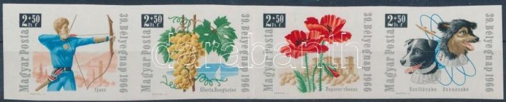 1966 Bélyegnap vágott csík (5.000)