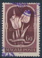 1951 Virág II. 60f tévnyomat, a piros szín hiányával (70.000)