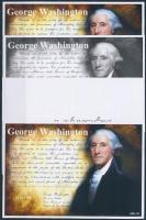 2016/04 George Washington 4 db-os emlékív garnitúra (28.000)