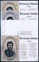 2016/06 Berzsenyi Dániel 4 db-os emlékív garnitúra (28.000)