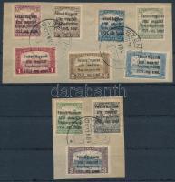 Nyugat-Magyarország I. 1921 Teljes sor 2 db levéldarabon NAGYSZENTMIHÁLY (38.000++)