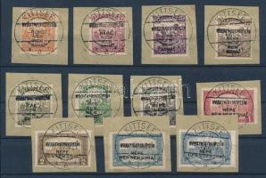 Nyugat-Magyarország I. 1921 Teljes sor kivágásokon KITTSEE R! (27.500++)