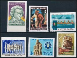 1970 6 db klf vágott bélyeg stecklapon (10.500)