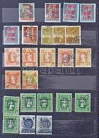 Nyomási eltérések, színeltérések, elfogazások, Meghatalmazás bélyegek 12 lapos közepes Philux berakóban. Érdekes anyag!