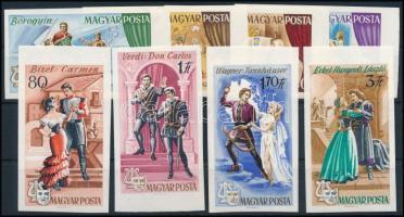 1967 Operák ívszéli vágott sor (3.000) (törések, ujjlenyomatok)