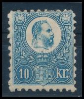 1871 Réznyomat 10kr eredeti gumival, szép állapotban (100.000)
