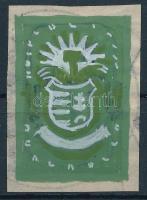 1945 Konecsni György eredeti bélyegterve a Szakszervezet sorozat 10P értékéhez