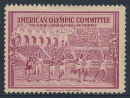 1940 Az elmaradt helsinki olimpiára az amerikai olimpiai csapat levélzárója