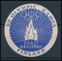 1940 Az elmaradt Helsinki Olimpia levélzárója