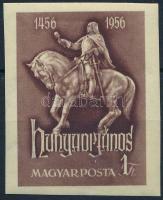 1956 Hunyadi János vágott bélyeg (7.000)