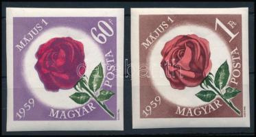 1959 Május 1. (VII.) vágott sor (4.000) (törések)