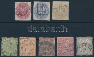 Német államok 8 db bélyeg