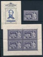 1949 Bélyegnap kisív + bélyeg + 1954 Jókai blokk (14.000)