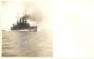 SMS Babenberg az Osztrák-Magyar Haditengerészet Habsburg-osztályú pre-dreadnought csatahajója (Linienschiff) / K.u.K. Kriegsmarine / Austro-Hungarian Navy SMS Babenberg pre-dreadnought battleship. Phot. Alois Beer
