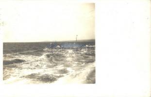 1910 Osztrák-Magyar torpedóromboló / K.u.K. Kriegsmarine Tropedoboot / Austro-Hungarian Navy torpedo boat. Phot. Alois Beer