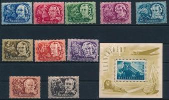 1948 Költők sor + Lánchíd (II.) blokk (rozsdás + gumihiba) (31.000)