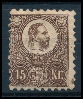 1871 Réznyomat 15kr eredeti gumival, falcos (120.000)