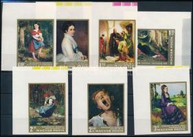 1966 Festmények (I.) vágott ívsarki sor (4.500)