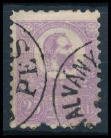 1871 Kőnyomat 25kr ibolya elfogazva (45.000)