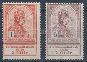 1913 Árvíz 1K, 5K (*11.000)
