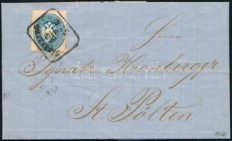 1864 10kr levélen OEDENBURG - St.Pölten