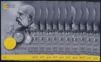 2016 10 db Ferenc József 1848-1916 emlékív (15.000)
