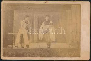 1891 Pozsony, színházi előadás, fotó, hátulján feliratozva, 11×17 cm