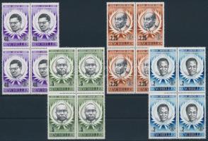 africa's liberation heroes set in blocks of 4, Afrika felszabadításának hősei sor négyestömbökben