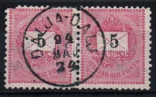 1889 5kr pár DÁLJA-DALJ