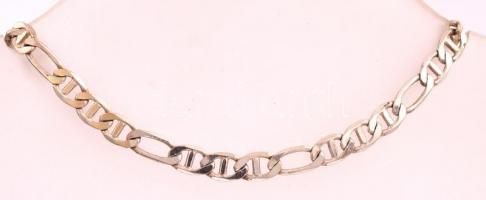 Ezüst (Ag.) olasz karkötő, jelzett, h:19 cm, nettó: 4,5 g