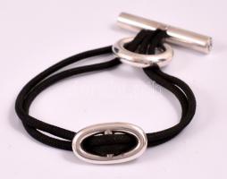 Ezüst (Ag.) Hermes madzagos karkötő, jelzett, bruttó: 16,8 g